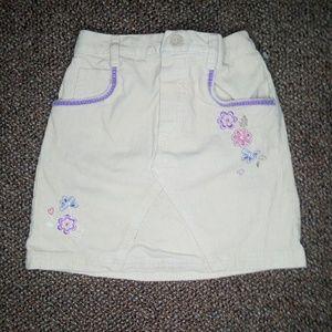 Corduroy Tan Skirt